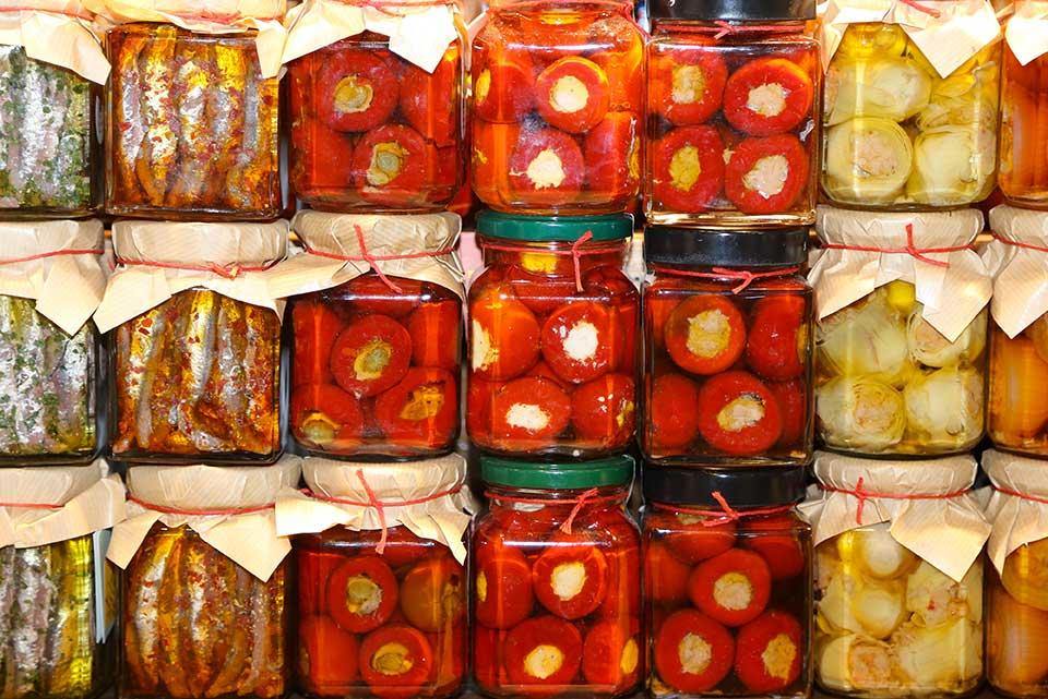 sicilian food jar