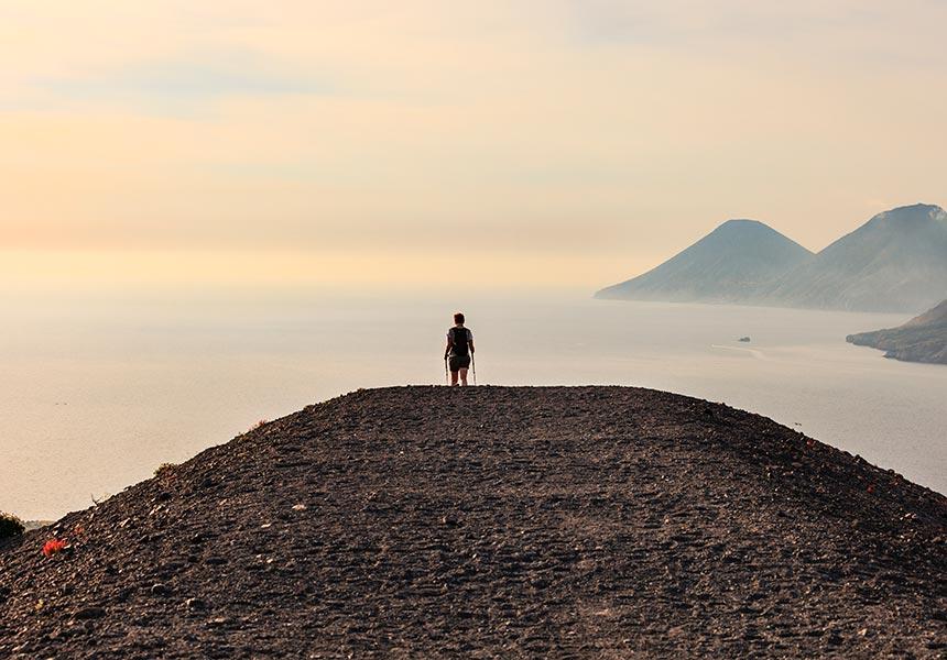 Aeolian islands view from Salina