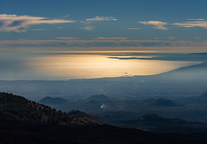 Catania view from Etna volcano