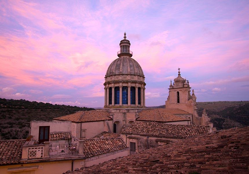 Church rooftop on Chiaramonte Gulfi - Sicily