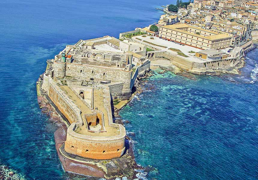 the castle of Federico II in Ortigia