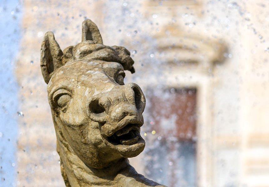 Horse sculpture in Ortigia