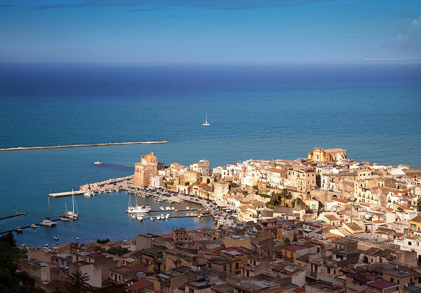Aerial view of San Vito Lo Capo
