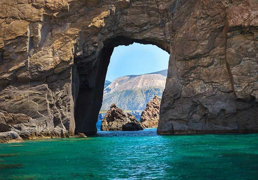 The sea of Salina Island