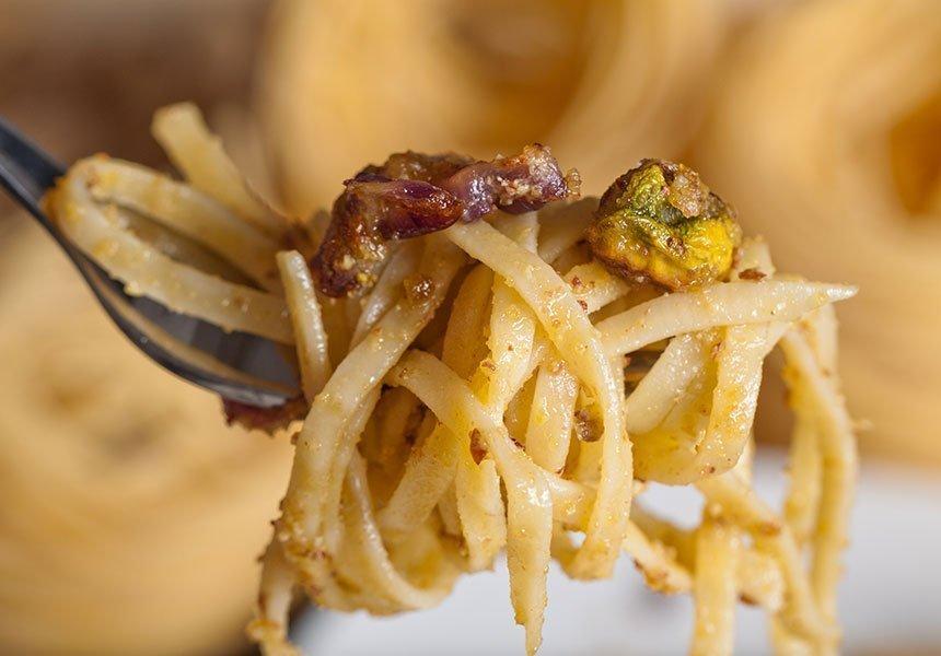 Typical pasta on Milo Catania