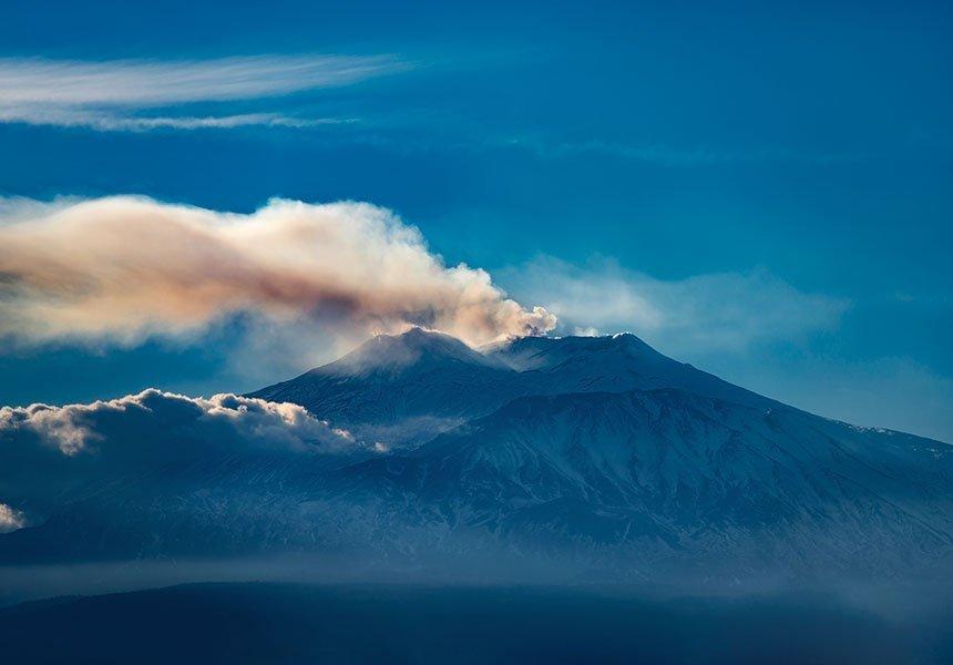 Etna's crater
