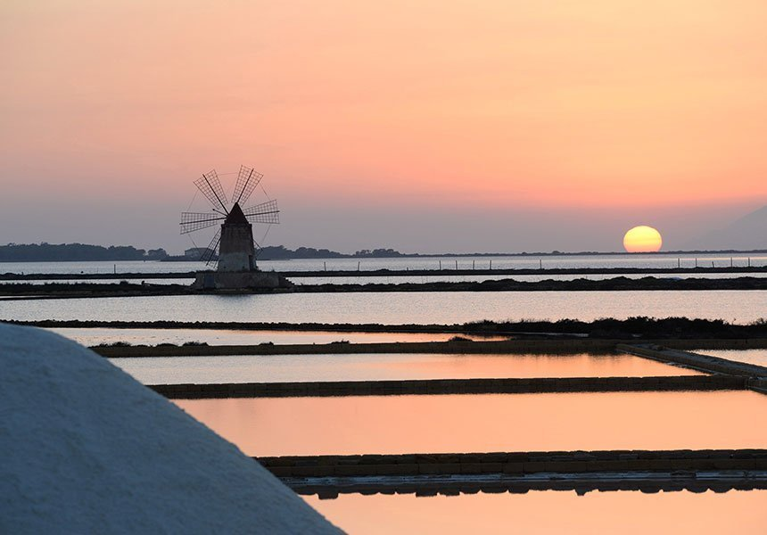 Windmill and saltworks