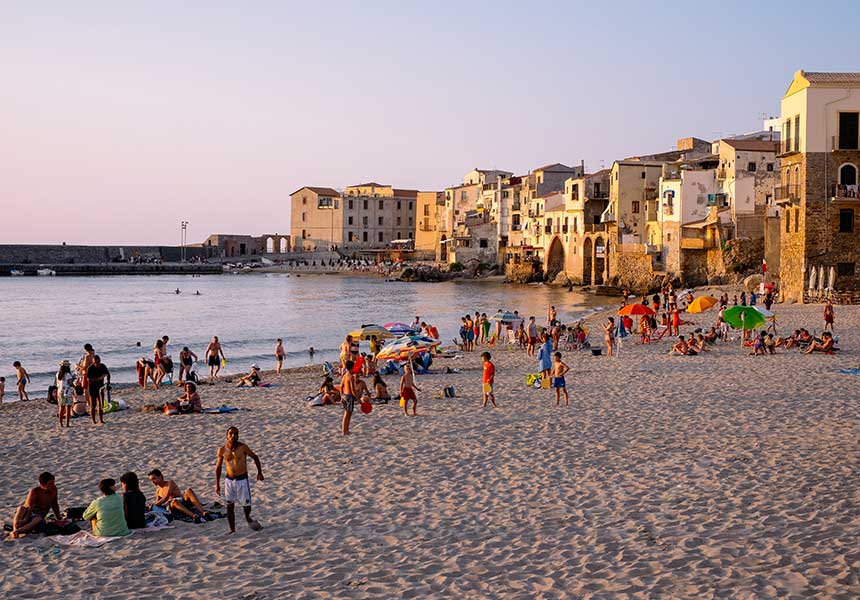 Beach on Cefalù - Palermo - Sicily