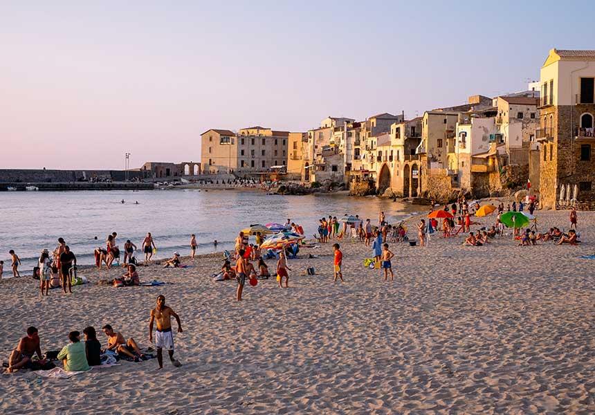Beach on Cefalù - Palermo - Sicily