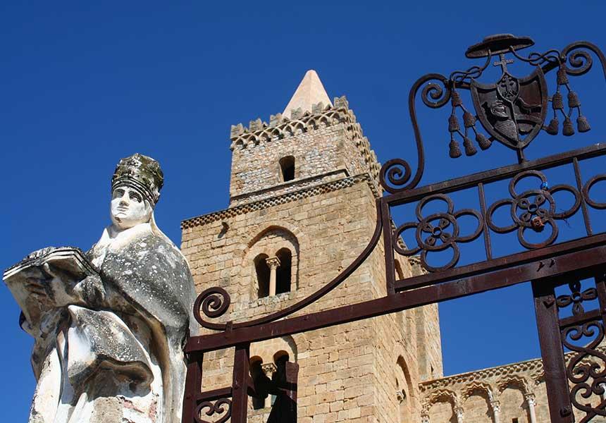 Church tower on Cefalù - Palermo - Sicily
