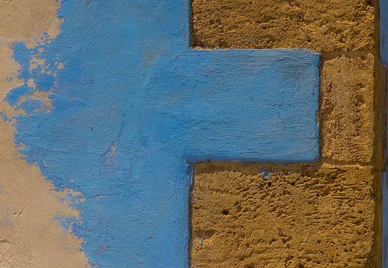 Coloured wall in Vendicari Sicily