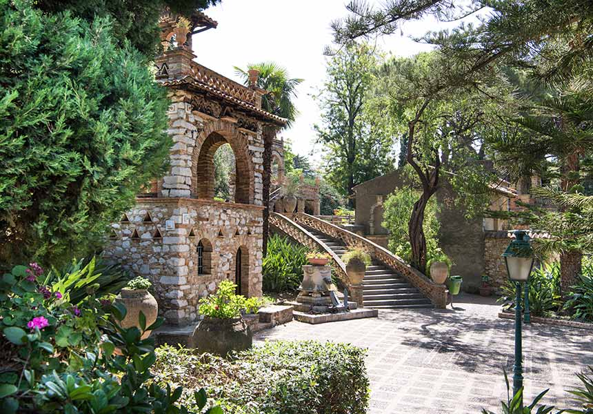 A villa in Taormina