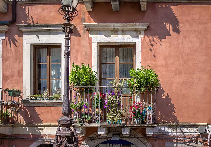 Balcony on Taormina town