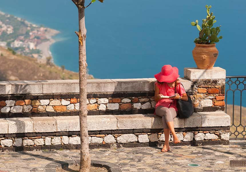 Calm place in Taormina