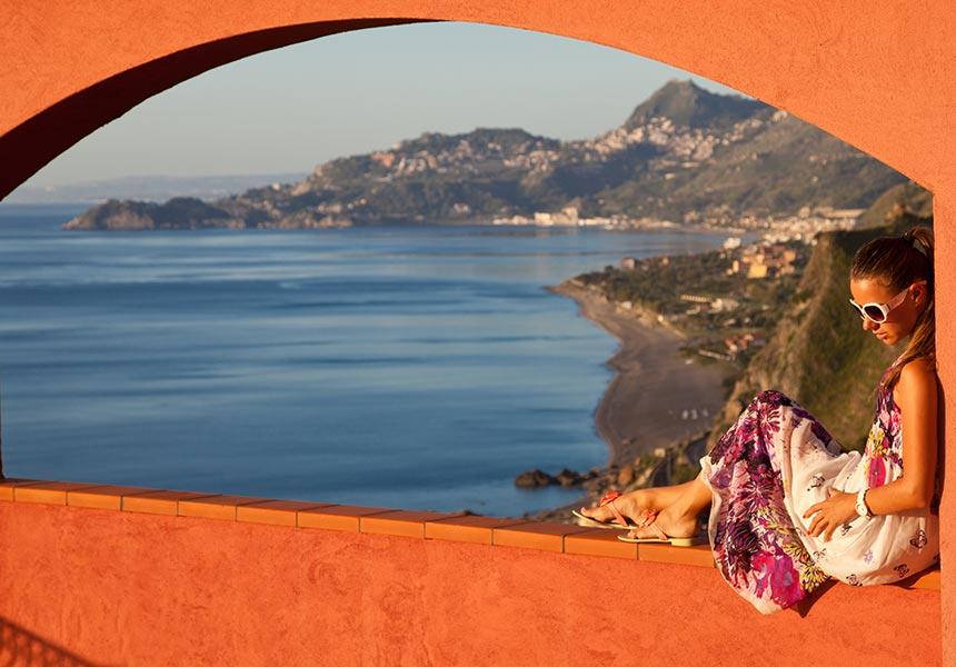 Relaxing in Taormina