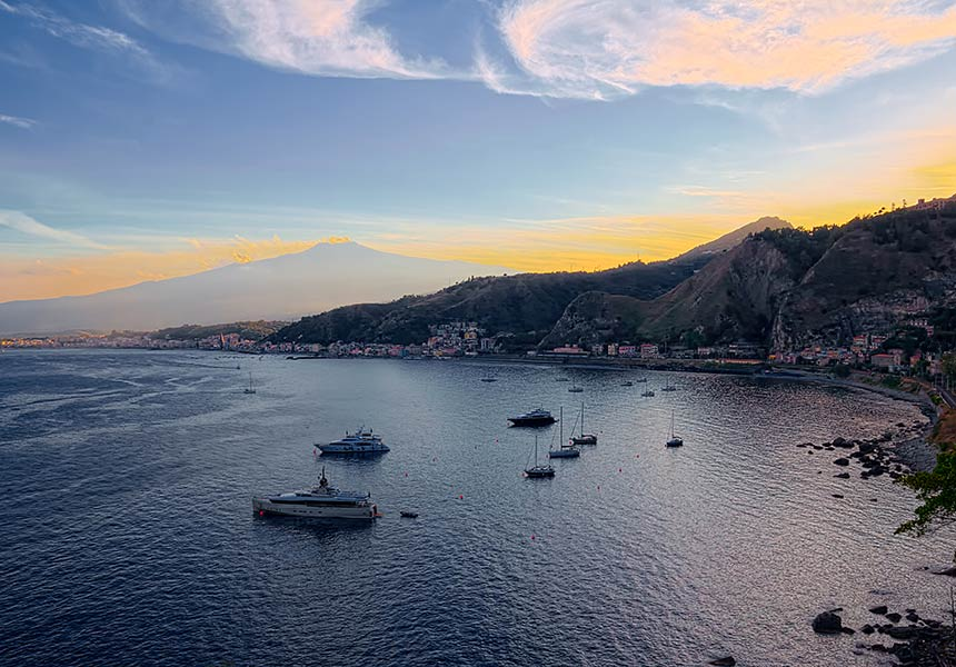 Stunning view from Taormina
