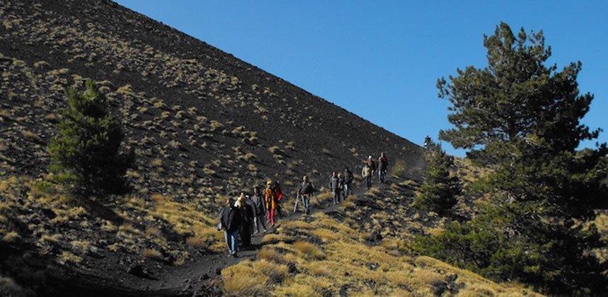 Trekking on Volcano Etna