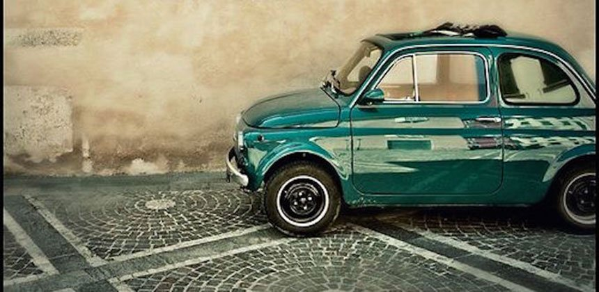 Old Fashion Italian car Transport