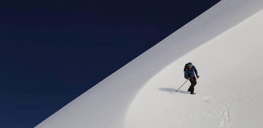 Skiing on Volcano Etna