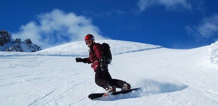 Snowboarding on Volcano Etna