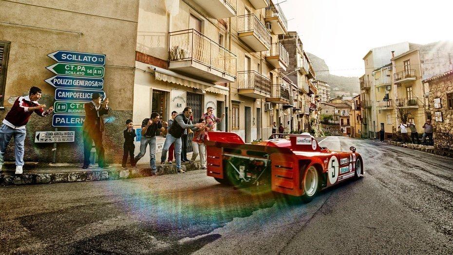 The Alpha Romeo 33TT3 chasing the Targa Florio trail in Sicily